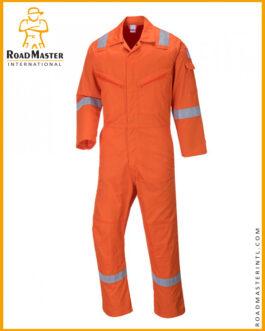 Orange Hi Vis Coveralls For Industrial Workers